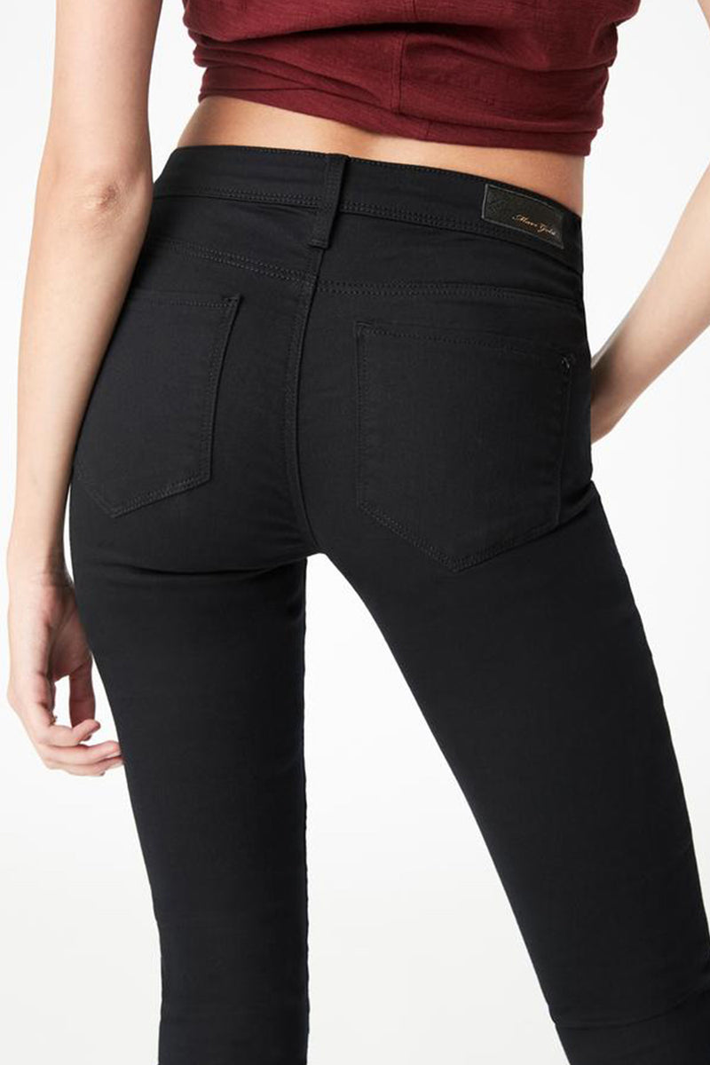 Alexa Mid-Rise Jean, Double Black Gold Reform