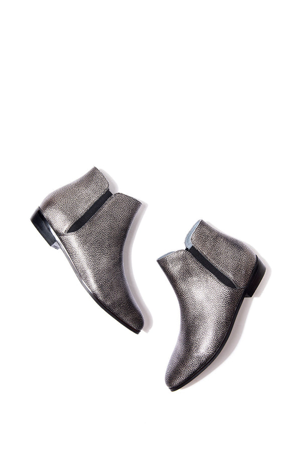Belle Ankle Boot in Metallic