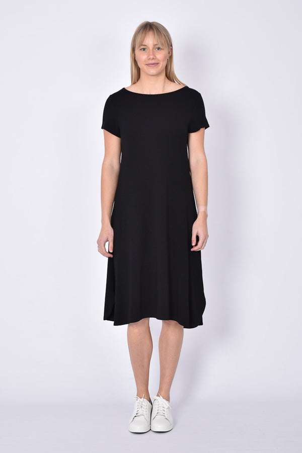 Cher Bamboo Dress, Black