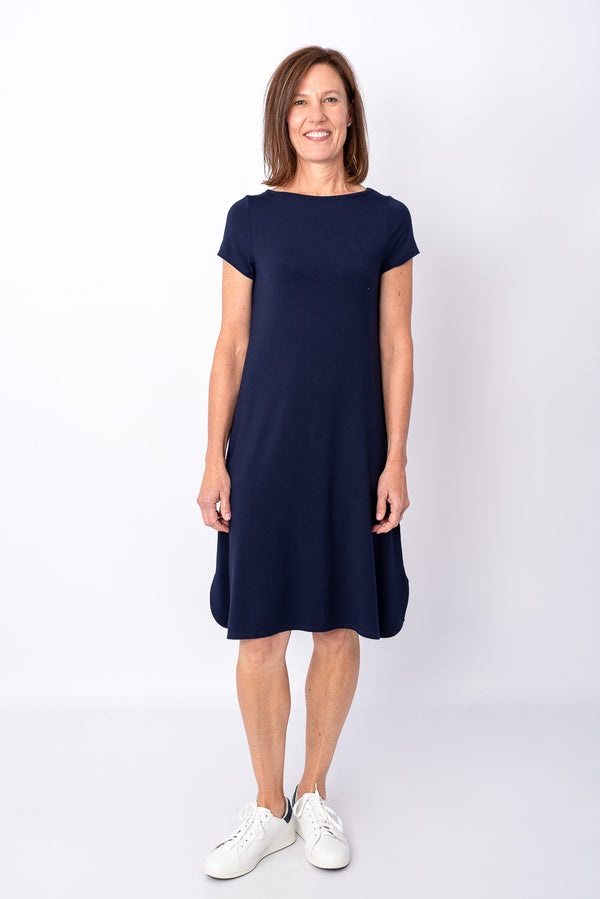 Cher Bamboo Dress, Navy