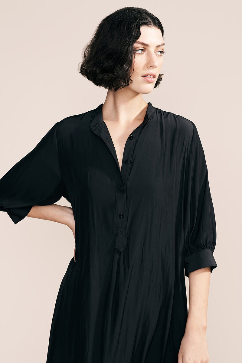 Ental Shirt Dress, Coal