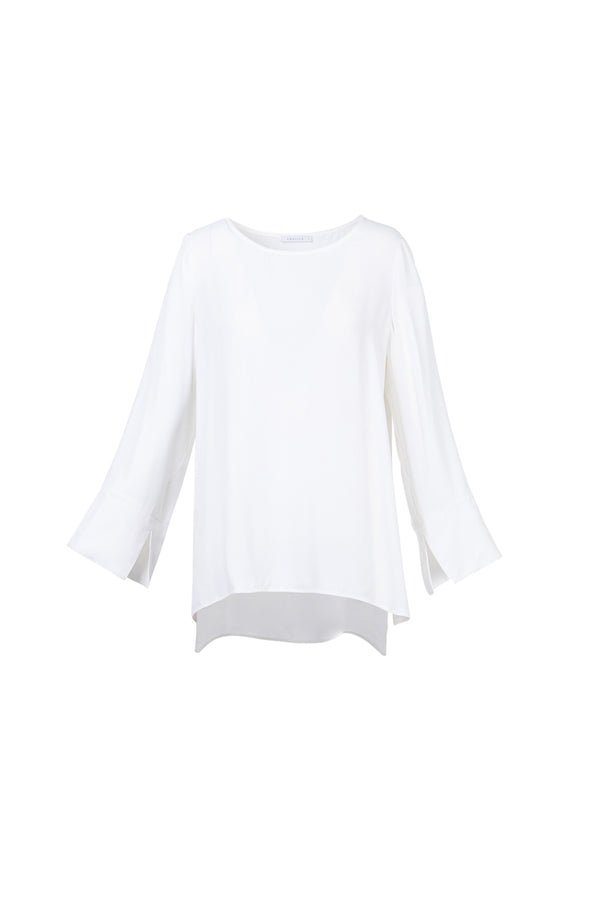 Flare Sleeve Shirt, White
