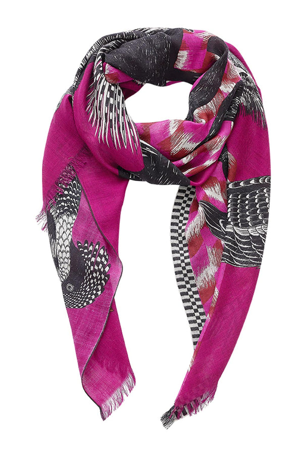 Germain wool scarf, Fuchsia