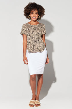 Janis Bamboo Tee, Leopard