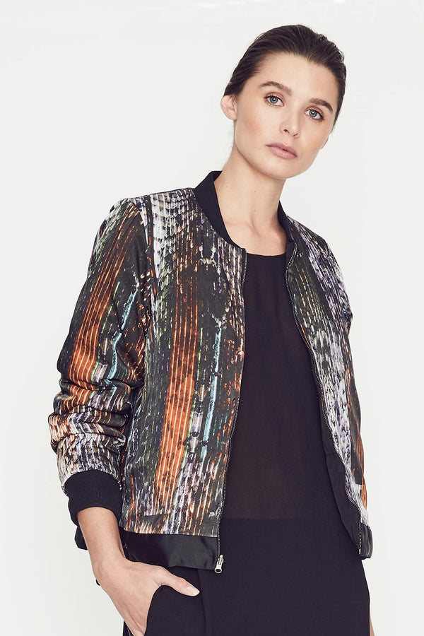Trimbach Reversible Jacket, Black/Kameleon Print