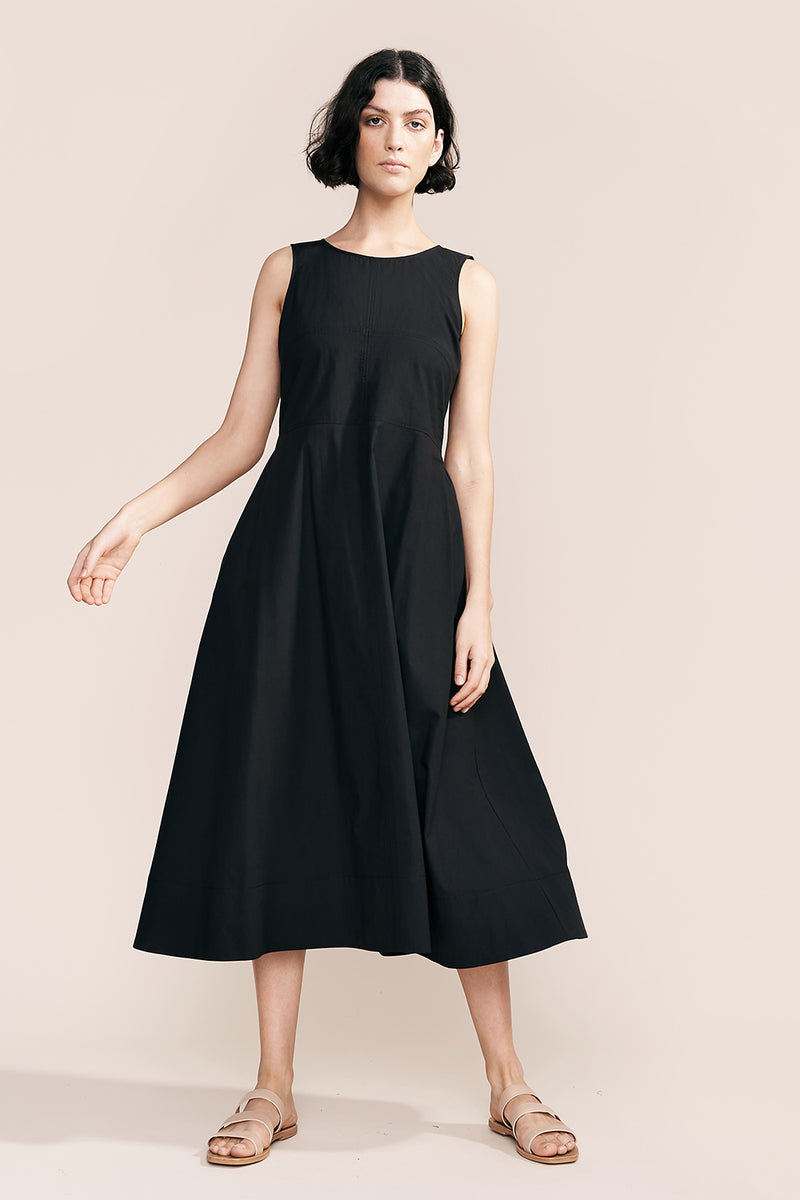 Liike Cotton Dress, Black