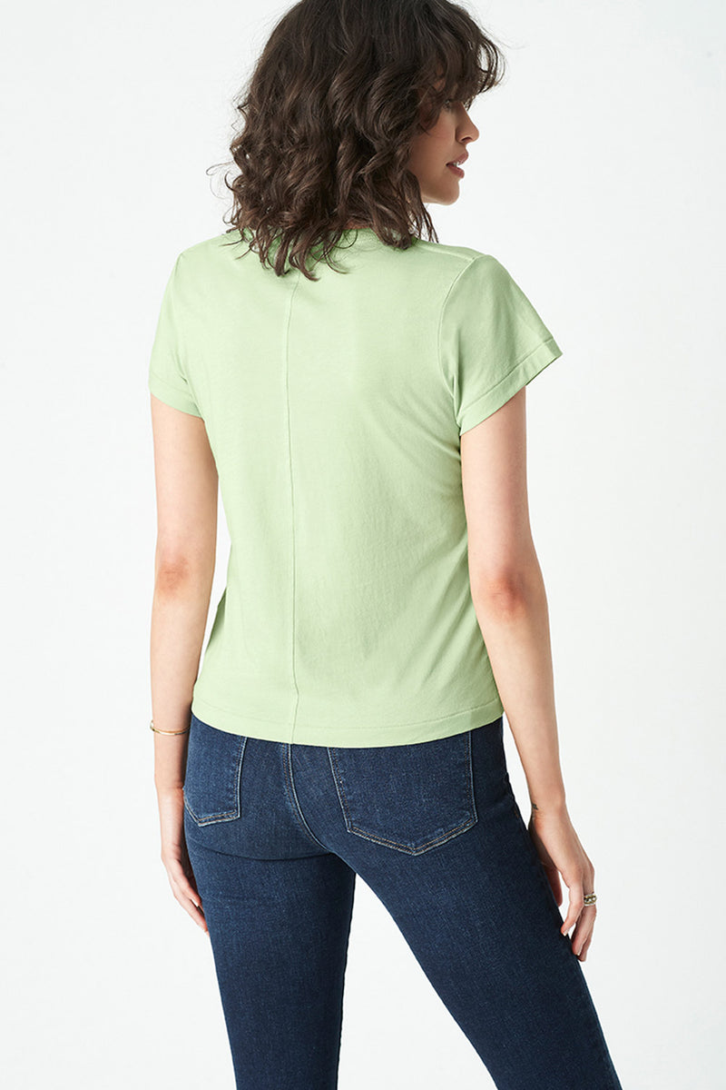 Reagan Crew Neck Tee, Washed Lime
