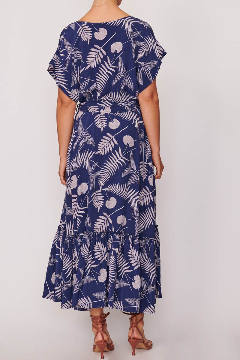 Sofia Flutter Sleeve Dress, Navy