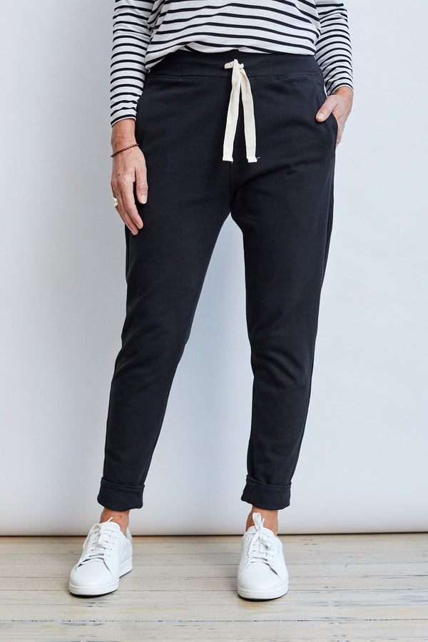 Relaxed Roll Up Pant '20, Black