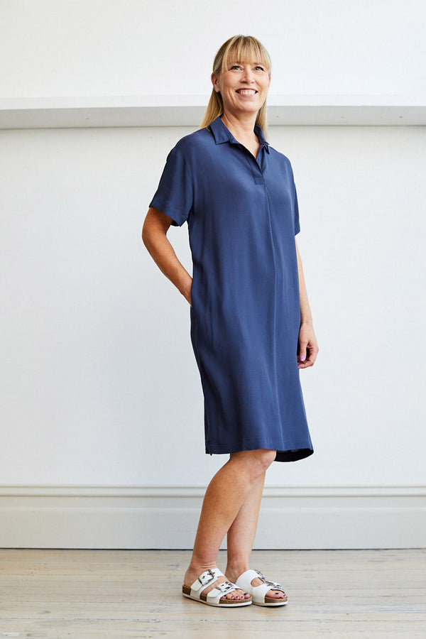 Zane Dress, Navy