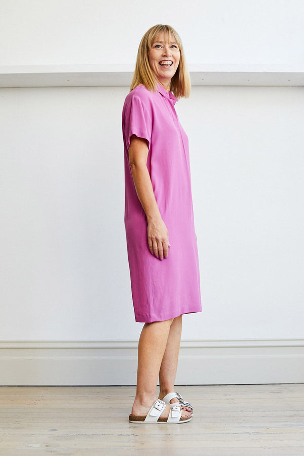 Zane Dress, Raspberry