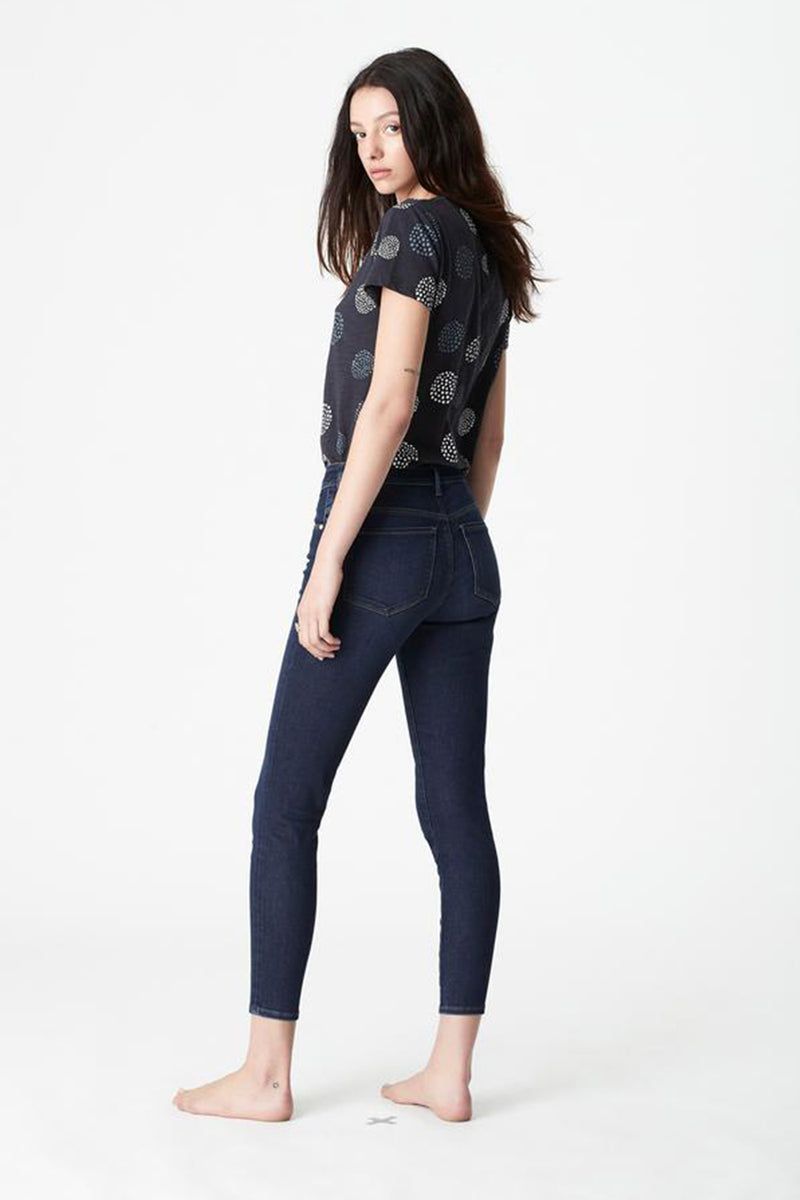 Alissa High Waist Ankle Jean, Dark Golden Gold