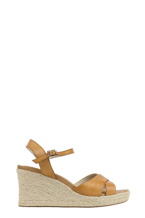 Alyce Wedge Espadrille Sandals, Tan