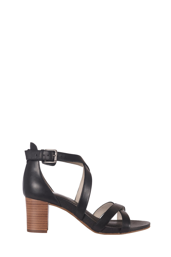 Amie Strappy Heels, Black