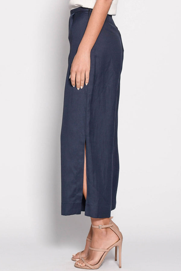 Anke Side Split Pant, Navy