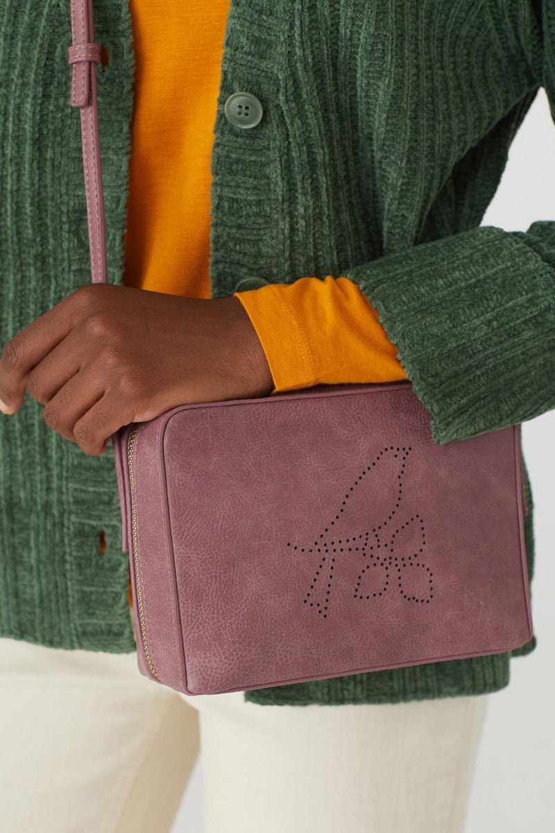 Perforated Bird Bag, Mauve
