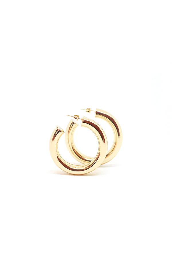 Cicciolina Hoop Earrings, Polished Gold