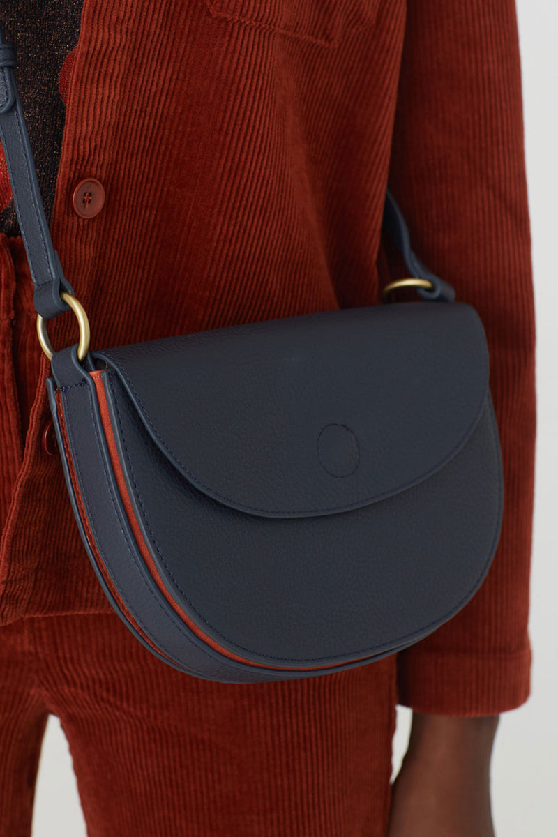 Contrast Laterals Bag, Navy