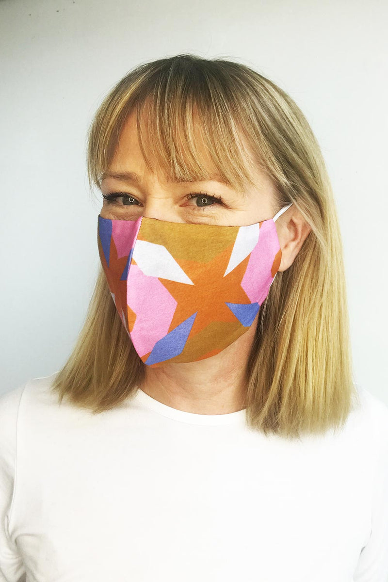 Mask Silk/Cotton, Multi Print