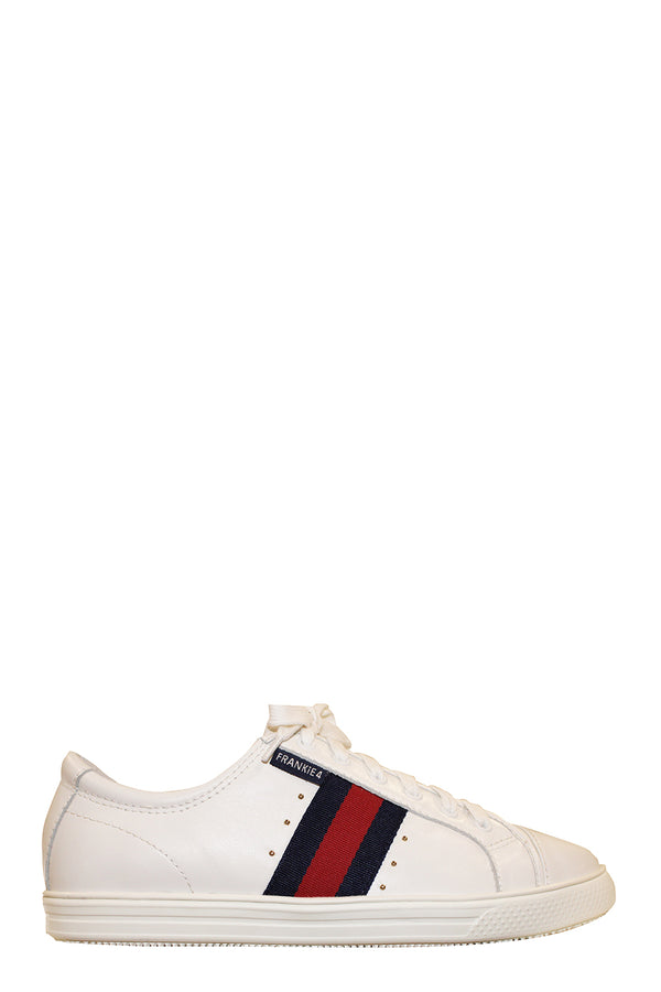 Elena runner, White with Ink/Red Stripe