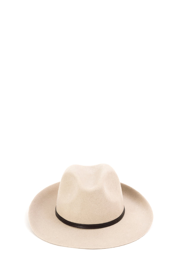 Felt Fedora Hat, Cream