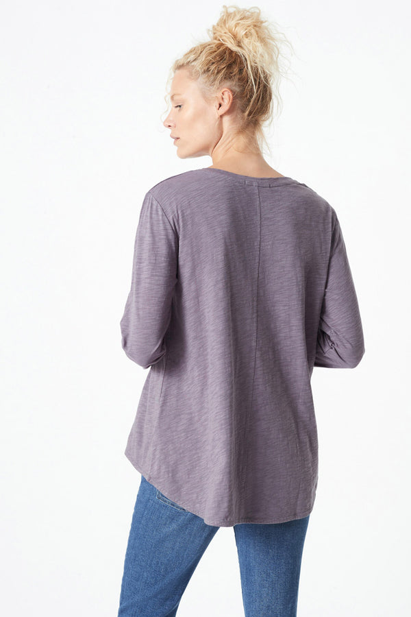 Gayle Long Sleeve Tee, Anthracite