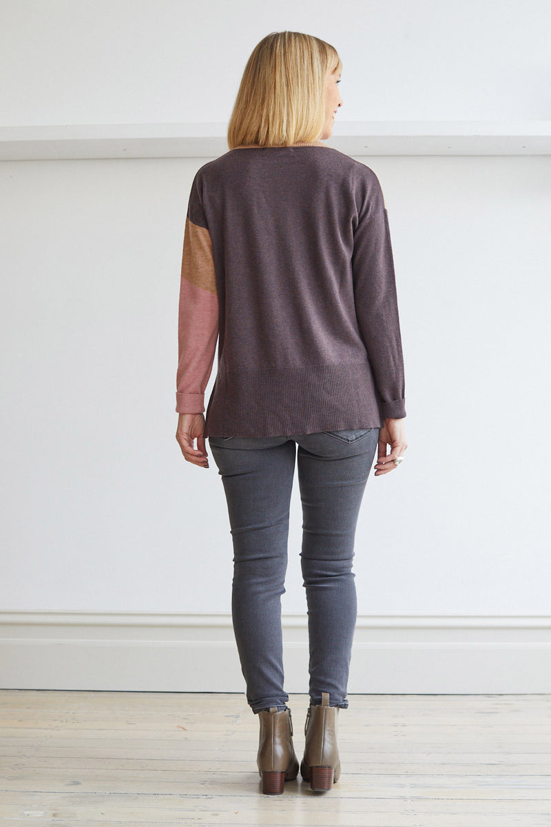Geo Sweater, Aubergine