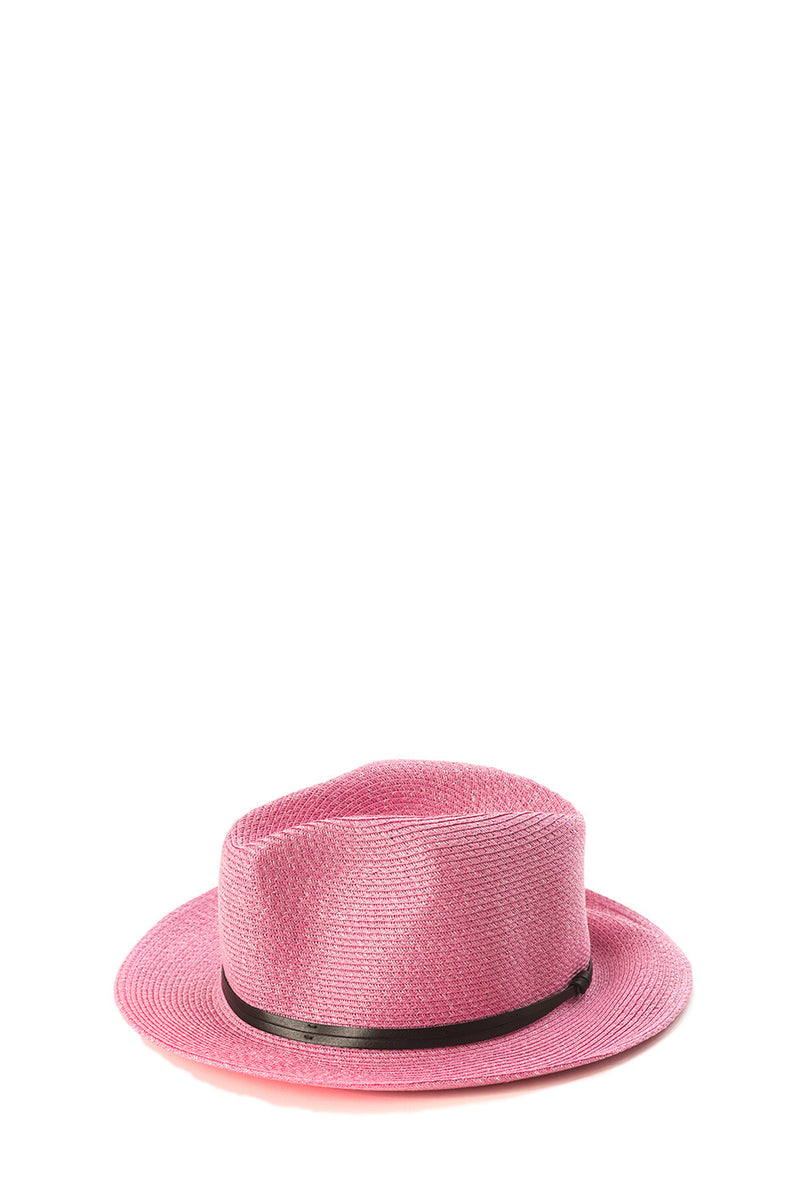 Foldable Borsolino Hat, Girly Pink