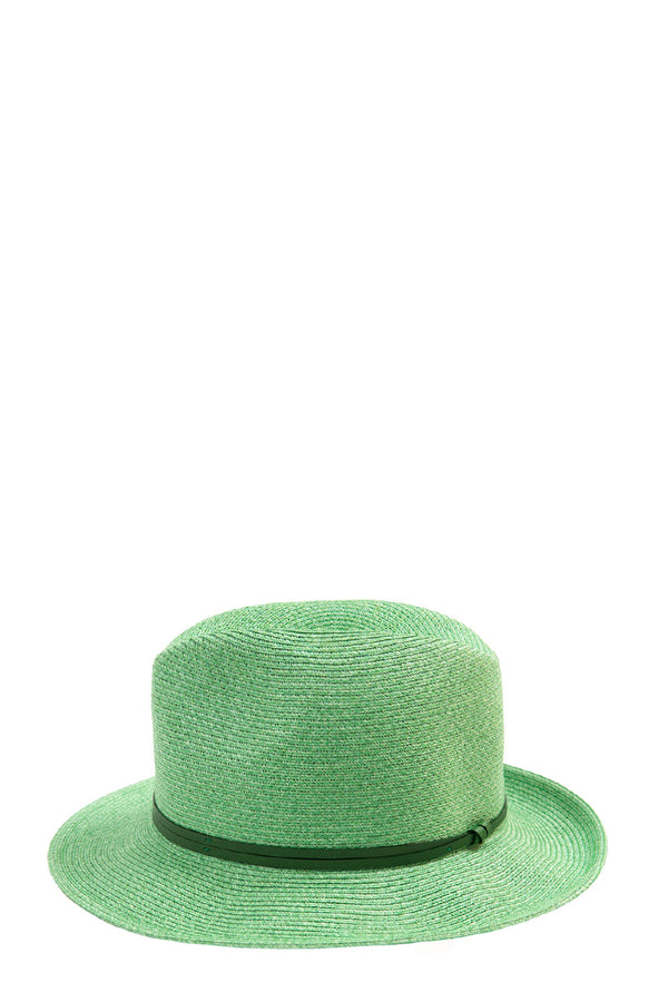 Foldable Borsolino Hat, Green