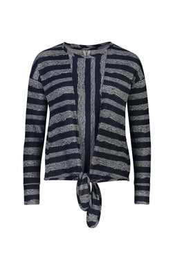 Stripe Knot Top, Navy/Grey