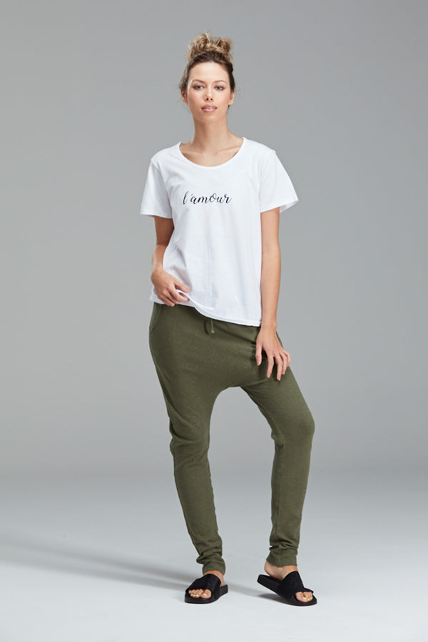 L'amour Tee, White