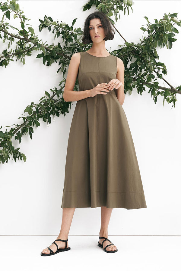 Liike Cotton Dress, Sage