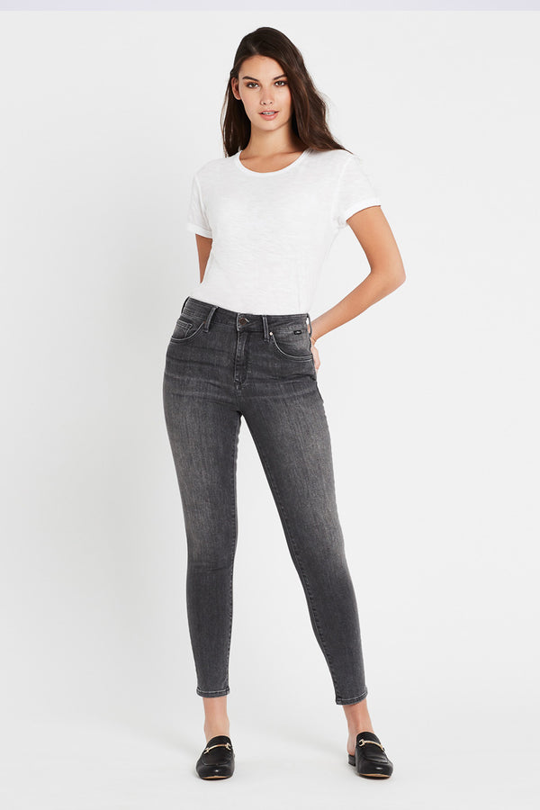 Lucy High Rise Jeans, Mid Grey Vintage