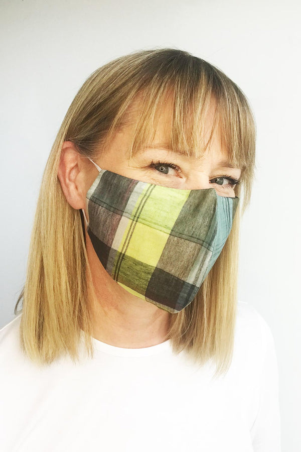 Mask, Cotton Madras Check