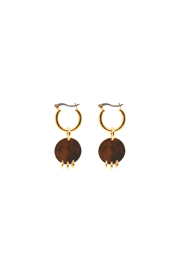 Maje Mini Hoops, Gold