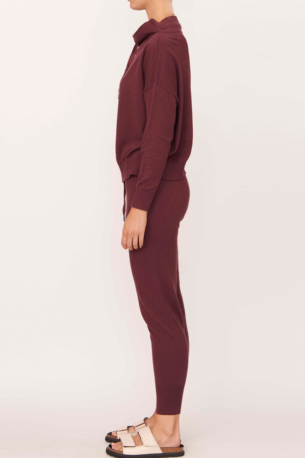 Nucleus Cotton-Cashmere Pant, Plum