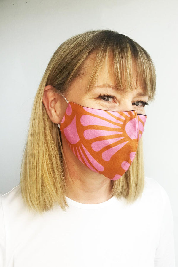 Mask Silk/Cotton, Retro Print