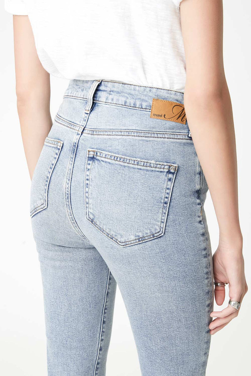Scarlett High Rise Jean, Light 90s Stretch