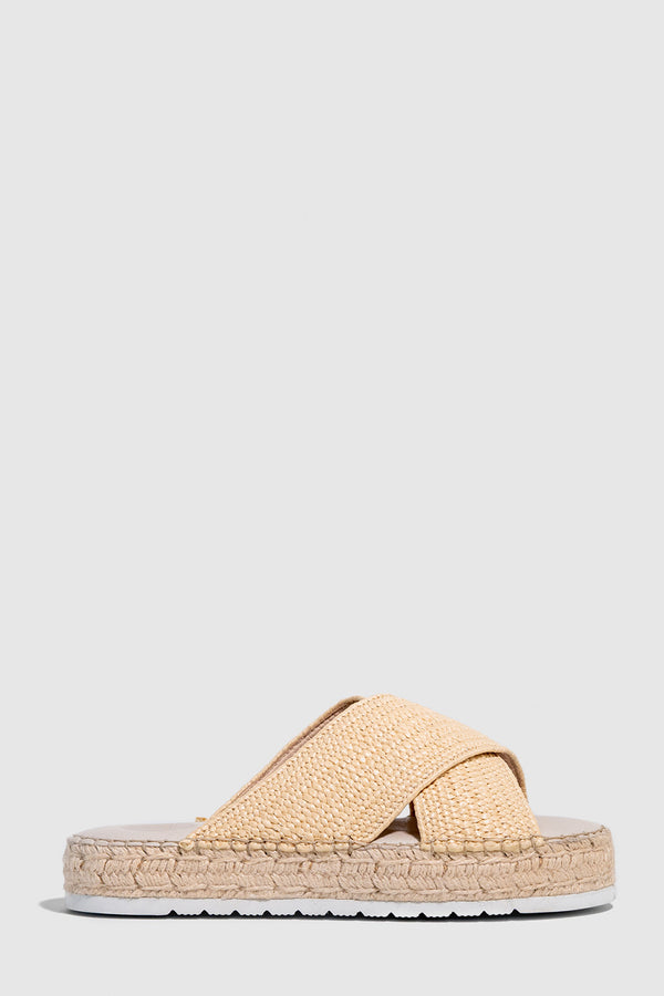 Surge Espadrille Slide, Natural