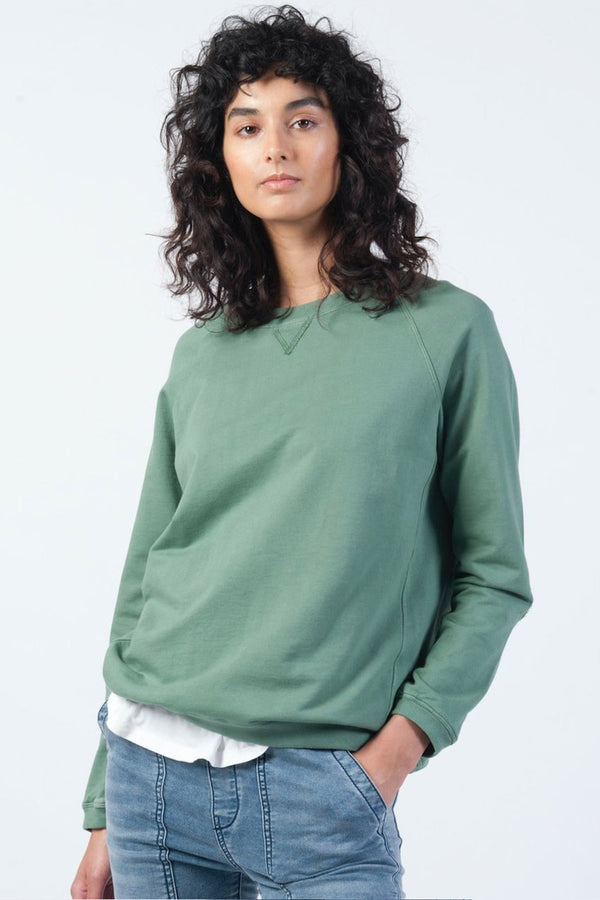 Vintage Raglan Sweat, Sea Green