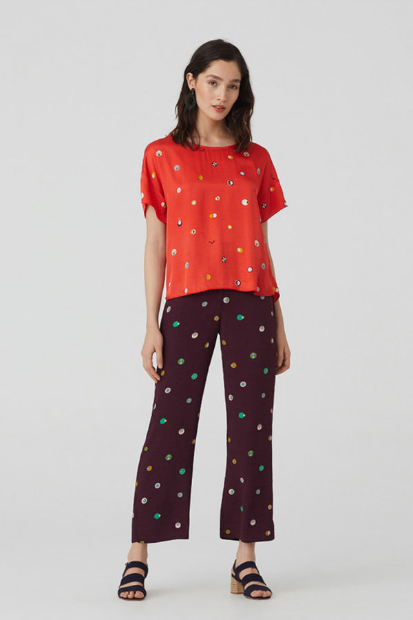 Swedish Dot Top, Red
