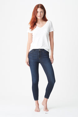 Tess High-Rise Jean, Deep Supersoft