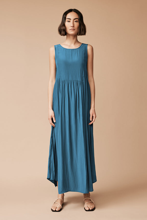 Vek Dress, Aegean Blue