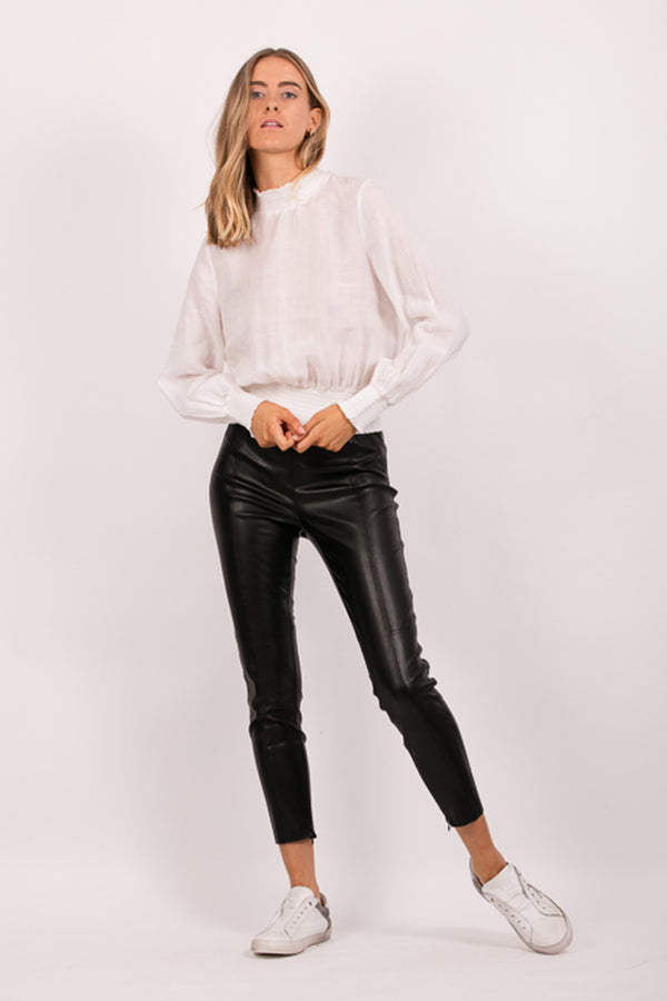 Volt Faux Leather Legging, Black
