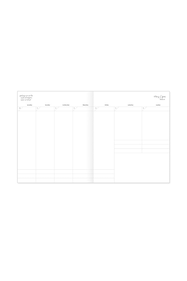 2021 Planner, Softcover, Weekly, Toasted Marshmallow