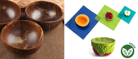 Coconut bowls and vegan food wraps (no beeswax!).