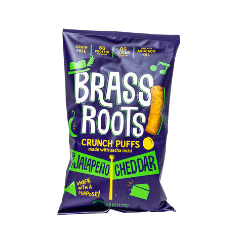 Brass Roots Crunch Puffs- Jalapeno Cheddar 4.5 oz.