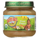 Earth's Best Organic First Pears Baby Food - Stage 1 - Case Of 12 - 2.5 Oz.