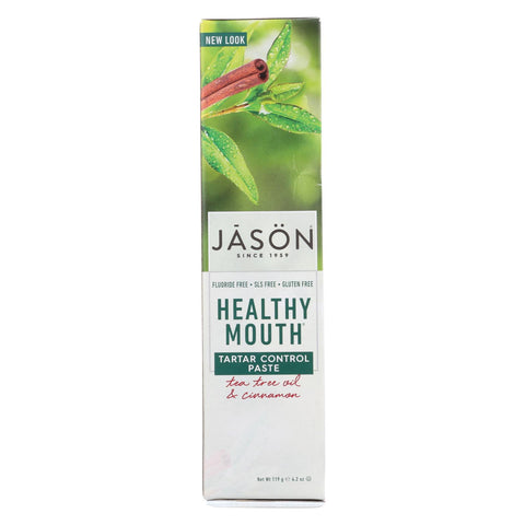 Jason Healthy Mouth Toothpaste Tea Tree And Cinnamon - 4.2 Oz