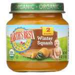 Earth's Best Organic Winter Squash Baby Food - Stage 2 - Case Of 12 - 4 Oz.